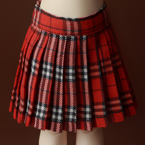 [USD] Byshu Pleated Skirt (Red)