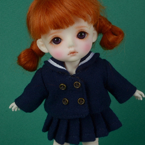 [Bebe Doll.휴쥬베이비] TY kindergarten Uniform Set (Girl/Navy)