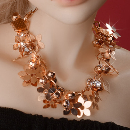MSD & SD Size - Bouquet Necklace (Rose Gold)