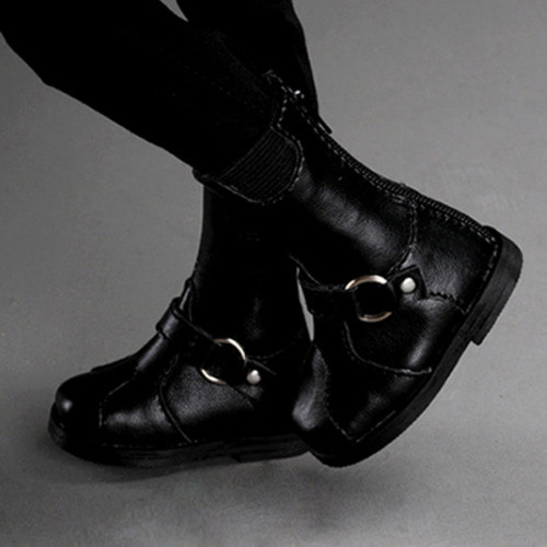 [74mm] MSD - junjin Band boots (Black)[C1]