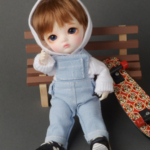 [Bebe Doll.휴쥬베이비] WN Overalls Pants (L.Blue)