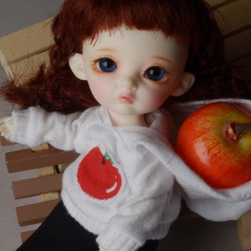 [Bebe Doll.휴쥬베이비] Apple Hood Tshirts (White)