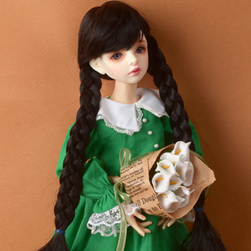"[7-8""] Shirley Pgtail Wig (Black)"