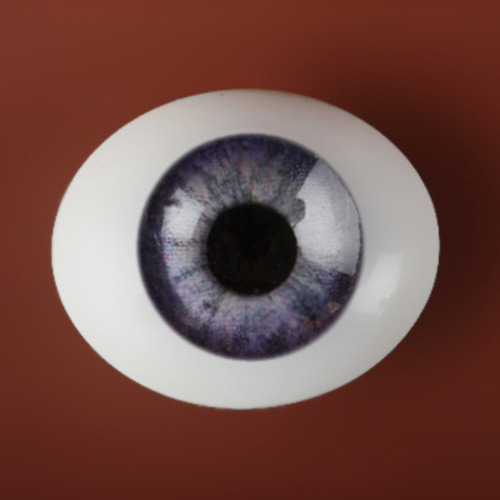 [22mm] Classic Flat Back Oval Glass Eyes (CC-08)