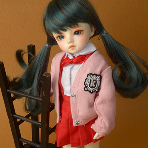 [USD] Petit School Uniform For Girl Set (Pink & Red)