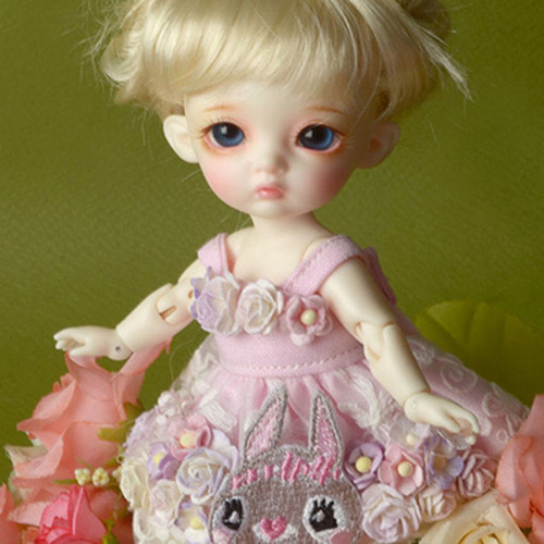 [Bebe Doll.휴쥬베이비] Rabbit Flowers Dress (L.Violet)