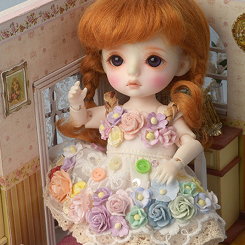 [Bebe Doll.휴쥬베이비] Rose Flowers Dress (Ivory)