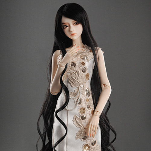 "[8-9""] Rapunzell Long Wig (Black)[D2]"