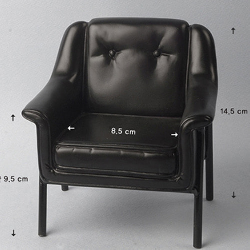 1/6 Scale USD Size Modern Chair (Black)