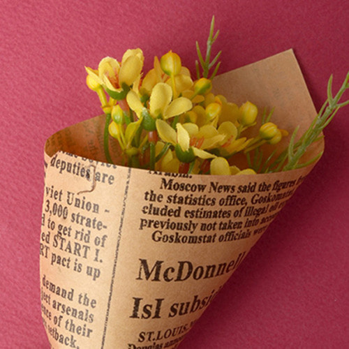 Middle Waxflower Bouquet (Yellow)
