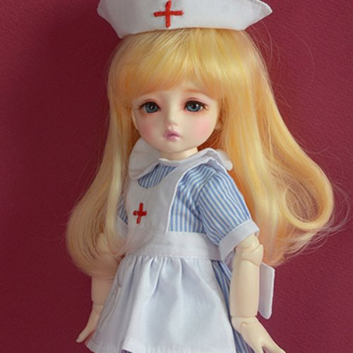 [USD] Dear Doll Size - Surgeon Nurse Dress Set (Sky)