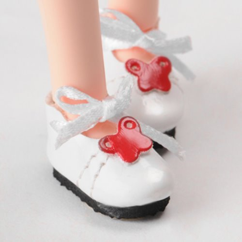 "[25mm] 12"" Butterfly Shoes (White-W)"
