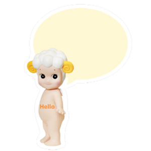 Sonny Angel Speech bubble card-Sheep
