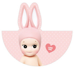Sonny Angel Circle Card-Rabbit