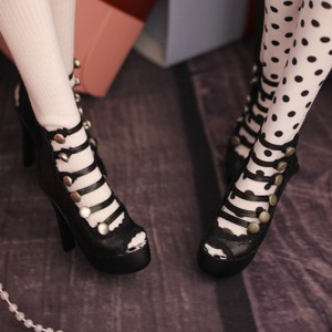 [SD/girl] Lolita button heels
