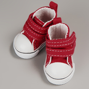 [USD] Dear Doll Size - Two strap Sneakers (Red)