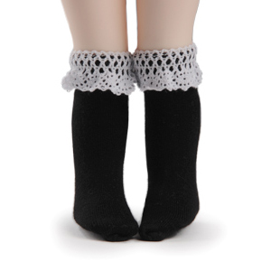 [USD] Ponyo Knee Socks (Black)