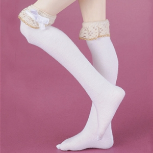 MSD - Lacy Girl Knee Stocking (White)