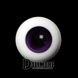 26mm Solid Glass Doll Eyes (08 Dark Violet)