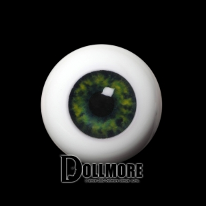 20mm Half-Round Acrylic Eyes (Green)
