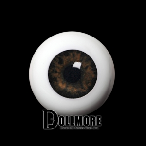 20mm Half-Round Acrylic Eyes (Brown)