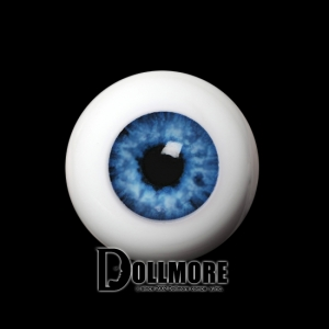 20mm Half-Round Acrylic Eyes (Blue)