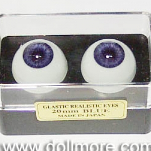 GLASTIC REALISTIC EYES - Blue 20mm