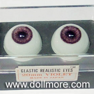 GLASTIC REALISTIC EYES - Violet 20mm
