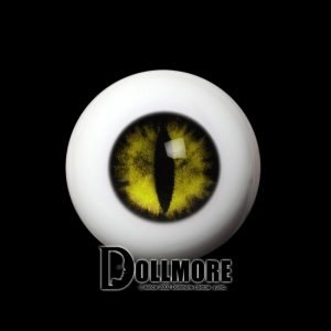 [14mm] OMeta Half Round Acrylic Eyes (Yellow 09)