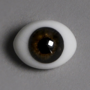 12mm Classic Flat Back Oval Glass Eyes (CC10)