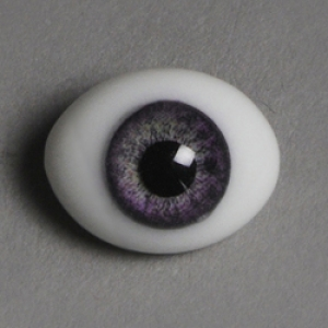 12mm Classic Flat Back Oval Glass Eyes (CC08)