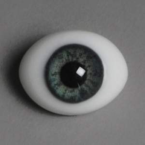 12mm Classic Flat Back Oval Glass Eyes (CC04)