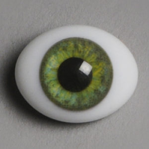 12mm Classic Flat Back Oval Glass Eyes (CD03)