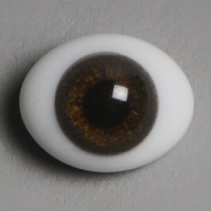12mm Classic Flat Back Oval Glass Eyes (CD10)
