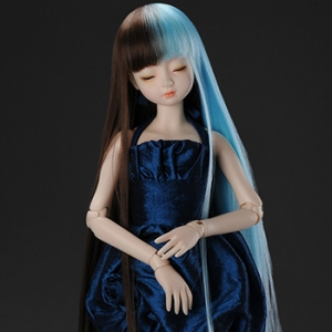 "[7-8""] Long Sera Straight Wig (Mirror Blue)"