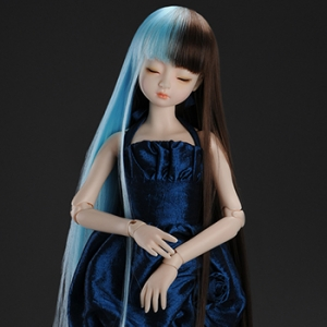 "[7-8""] Long Sera Straight Wig (Blue)"
