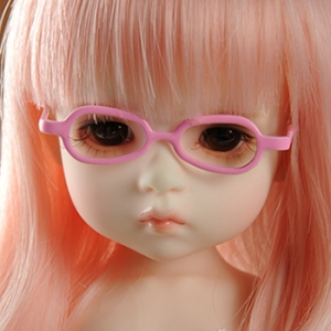 USD - Shape Steel Lensless Frames Glasses (Pink)