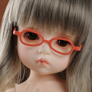 USD - Shape Steel Lensless Frames Glasses (Orange)