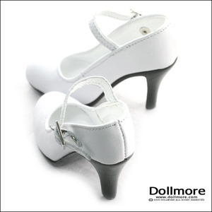 [90mm] Model Doll F(high heels) Shoes - Basic Shoes (White)