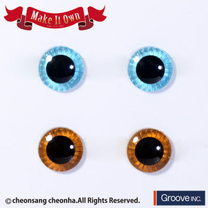 [Pullip안구칩/12mm] ME-001  Eyechip Light Blue & Brown
