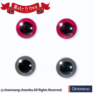 [Pullip안구칩/12mm] ME-002 Eyechip Pink & Gray