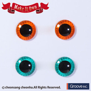 [Pullip안구칩/12mm] ME-003 Eyechip Orange & Green