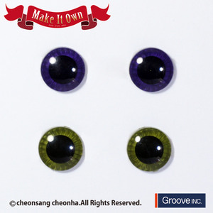 [Pullip안구칩/12mm] ME-004 Eyechip Dark Purple & Moss