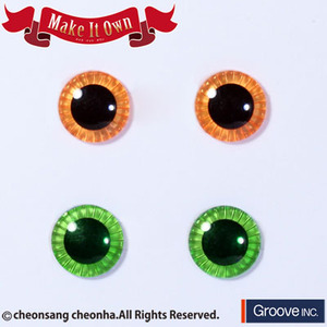 [Pullip안구칩/12mm] ME-007 Eyechip Apricot & Light Green