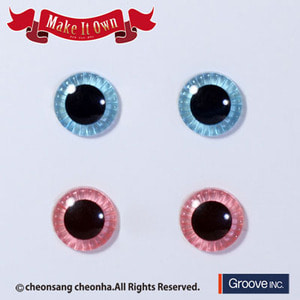 [Pullip안구칩/12mm] ME-008 Eyechip Aqua Blue & Light Pink