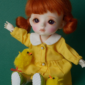 [Bebe Doll.휴쥬베이비] TY kindergarten Uniform Set (Girl/Yellow)