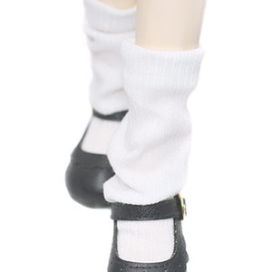 [MSD] Stripes Loose socks(White)