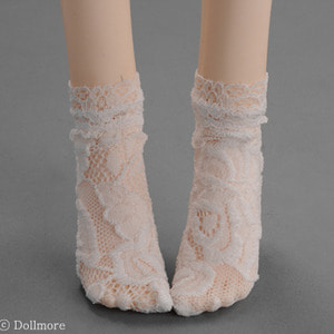 [SD & MSD] - Lace Koto Socks (White)