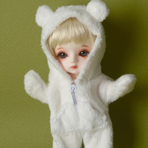 [Bebe Doll.휴쥬베이비] Sinko Animal All-in-one (White)
