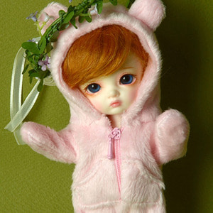 [Bebe Doll] Sinko Animal All-in-one (Pink)